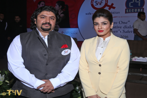Sunil Nihal Duggal with actress Raveena Tandon.