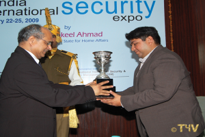 Sunil Nihal Duggal, receiving an award from Mr. N.R. Das, Former Director General, CISF